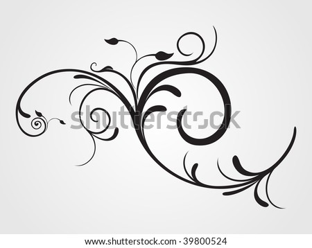 background with creative floral pattern tattoo, illustration