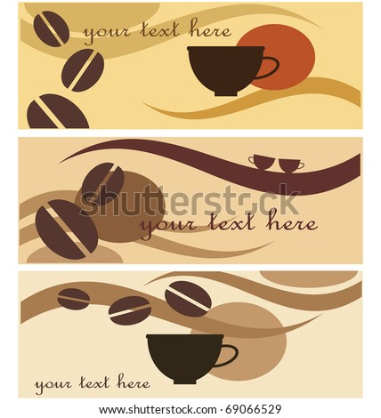 background  with design and coffee  illustration - stock vector