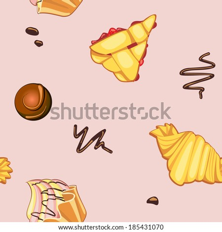 Background with desserts