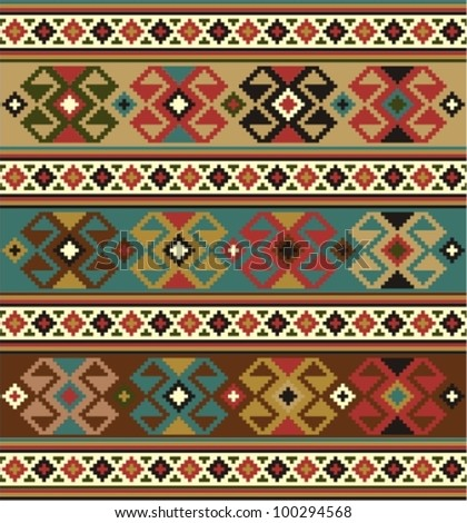 Background with ethnic motifs. Seamless pattern - stock vector