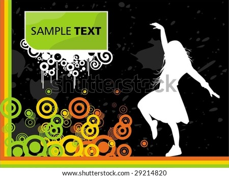 Background with female silhouette