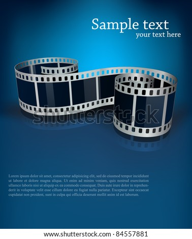 Background with film - stock vector