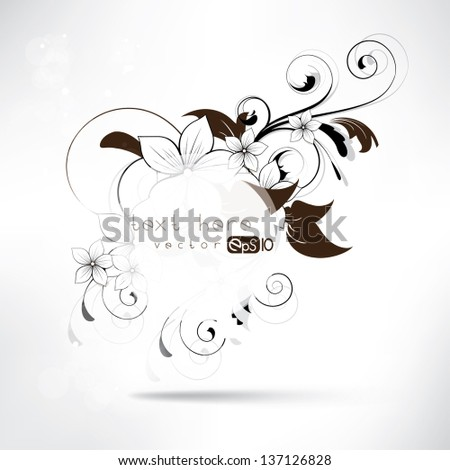 background with floral ornament