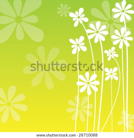 Background with flowers - stock vector