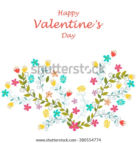 Background with flowers. - stock vector