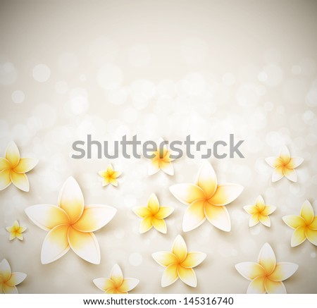 Background with flowers. Eps 10 - stock vector