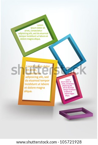 background  with frames - stock vector
