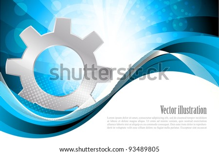 Background with gear - stock vector