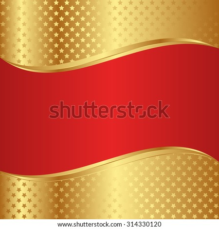 background with golden stars - stock vector