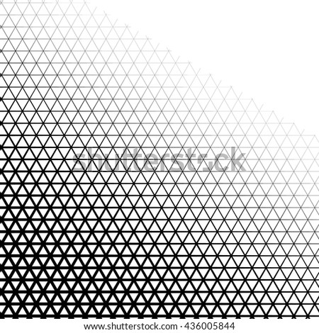 Background with gradient of triangle shaped grid - stock vector