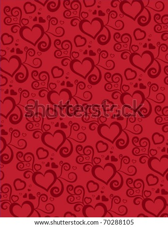 background with heart design - stock vector