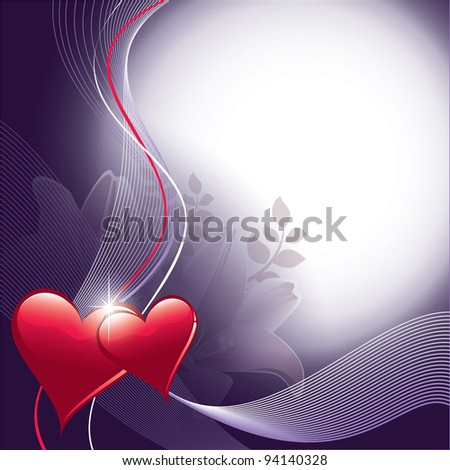 Background with Hearts. Valentines Illustration. - stock vector