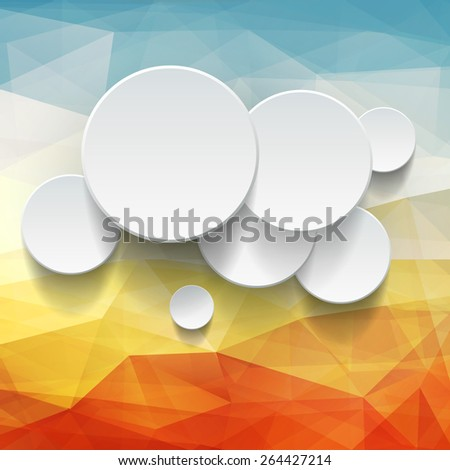 Background with Infographic design over warm abstract vector texture. - stock vector