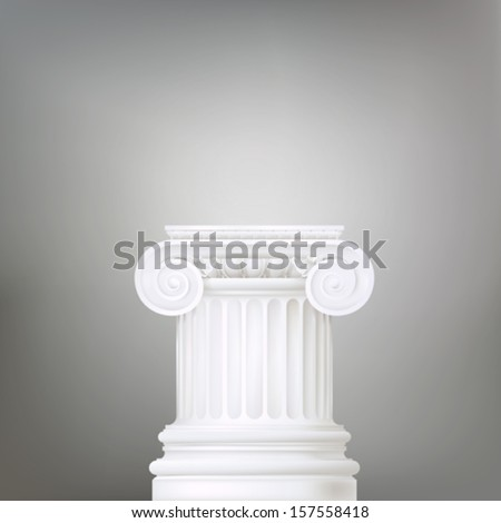 background with ionic column - stock vector