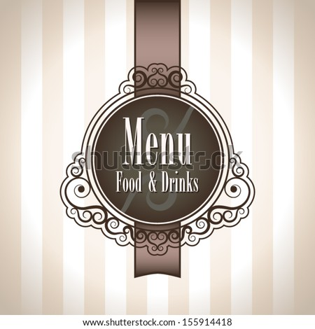 background with label for menu card - stock vector