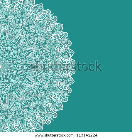 background with lace ornament - stock vector