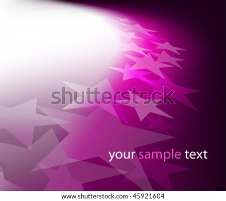 Background with lighting effect and stars. Vector illustration. (Rgb-model, no transparency). - stock vector