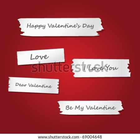 background with message of love - stock vector