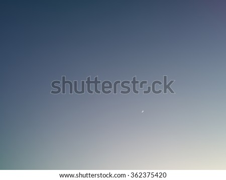 Background with moon  in clear night sky - stock vector