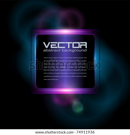 Background with neon glowing, vector. - stock vector