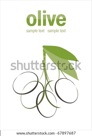 background with olive - stock vector
