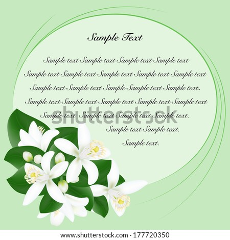 Background with orange flowers - stock vector