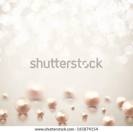 Background with pearls. Illustration contains transparency and blending effects, eps 10 - stock vector