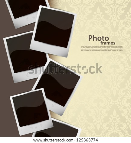 Background with photo frames - stock vector