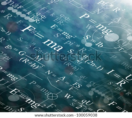 Background with physical formulas. Eps 10 - stock vector
