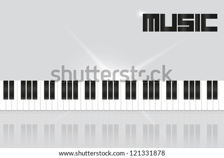 background with piano keys in shades of gray - stock vector