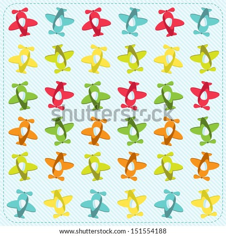 background with planes - stock vector