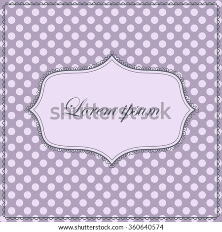 Background with polka dot and banner vintage