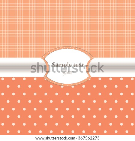 Background with polka dots and the cell.