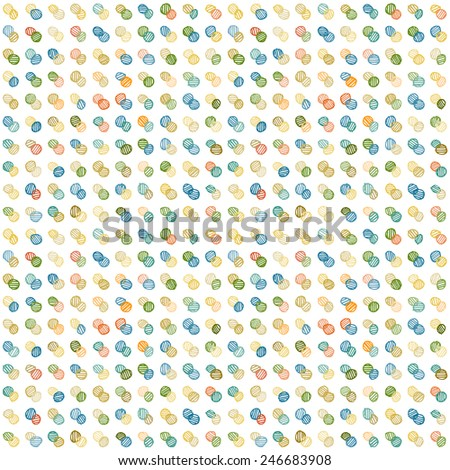 Background with polka dots. Vector design. - stock vector