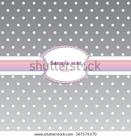 Background with polka dots. Vector version.