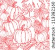 Background with pumpkins. - stock vector