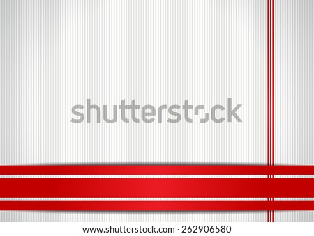 Background with red ribbons - stock vector