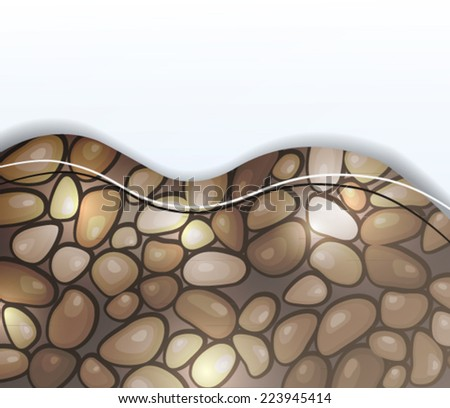 Background with  sea stones - stock vector