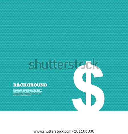 Background with seamless pattern. Dollars sign icon. USD currency symbol. Money label. Triangles green texture. Vector - stock vector