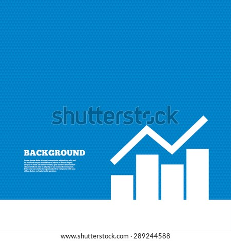 Background with seamless pattern. Graph chart sign icon. Diagram symbol. Statistics. Triangles texture. Vector
