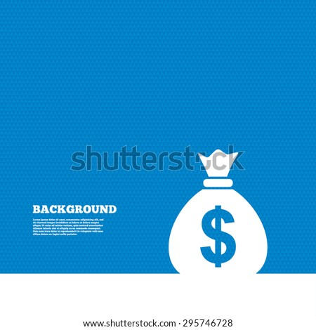Background with seamless pattern. Money bag sign icon. Dollar USD currency symbol. Triangles texture. Vector - stock vector