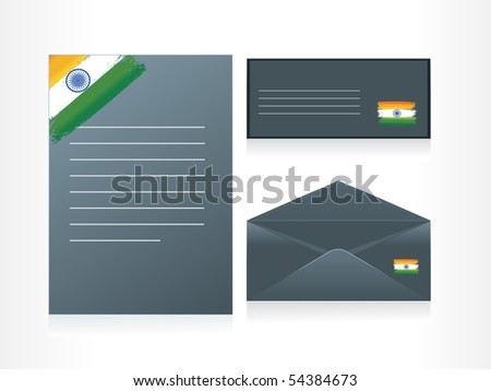 background with set of letterhead, envelop and postcard - stock vector