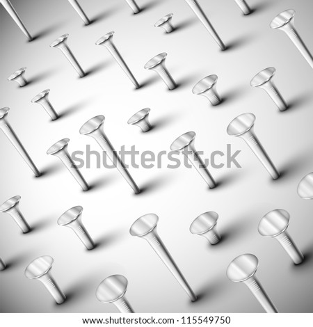 Background with set of nails. Eps 10