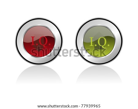 background with set of two iq research icon, vector illustration - stock vector