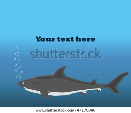 background with shark.