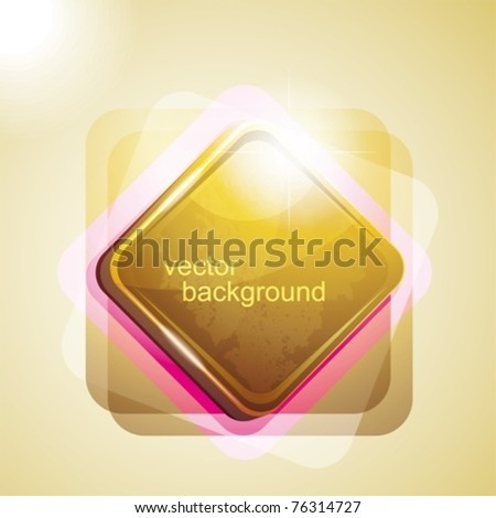 background with shiny square. eps10 - stock vector