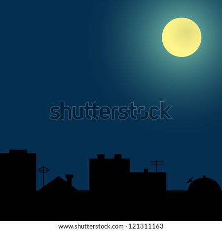 Rooftop Silhouette Stock Images Royalty Free Images