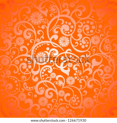 Background with slices of orange. Vector Illustration - stock vector