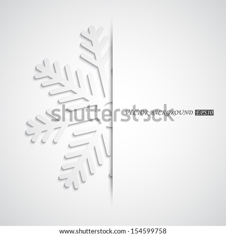 Background with snowflake. EPS10 vector - stock vector