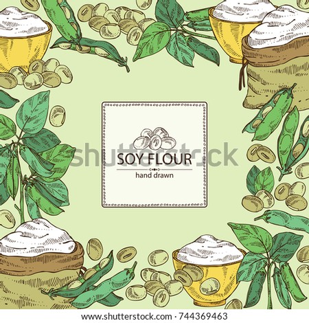 Soybean Plant Stock Vectors Clipart and Illustrations